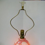 VINTAGE Aladdin Electric Light Rose and Leaf Motif, with Alacite and night light