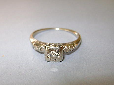 VINTAGE Artcarved Woodcrest 14K White Gold 40s Engagement Ring From Ruthsantiques On Ruby Lane