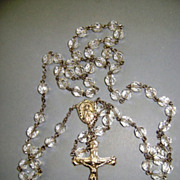 VINTAGE Crystal  Catamore Sterling Traditional Rosary