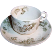 SET of 2:   Antique Alfred Meakin of England Demitasse Cup & Saucer Sets  Dresden Hopfen Pattern