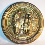 Decorative Repousse Wall Plate ~ Dutch Waterside Scene