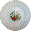 7 1/4&quot; Vintage Holiday Candle Light Plate