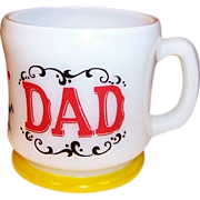 SALE Hazel Atlas Gay 90's DAD Coffee Mug