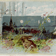 SALE Antique Woolson Spice Co.  Advertising Easter Card