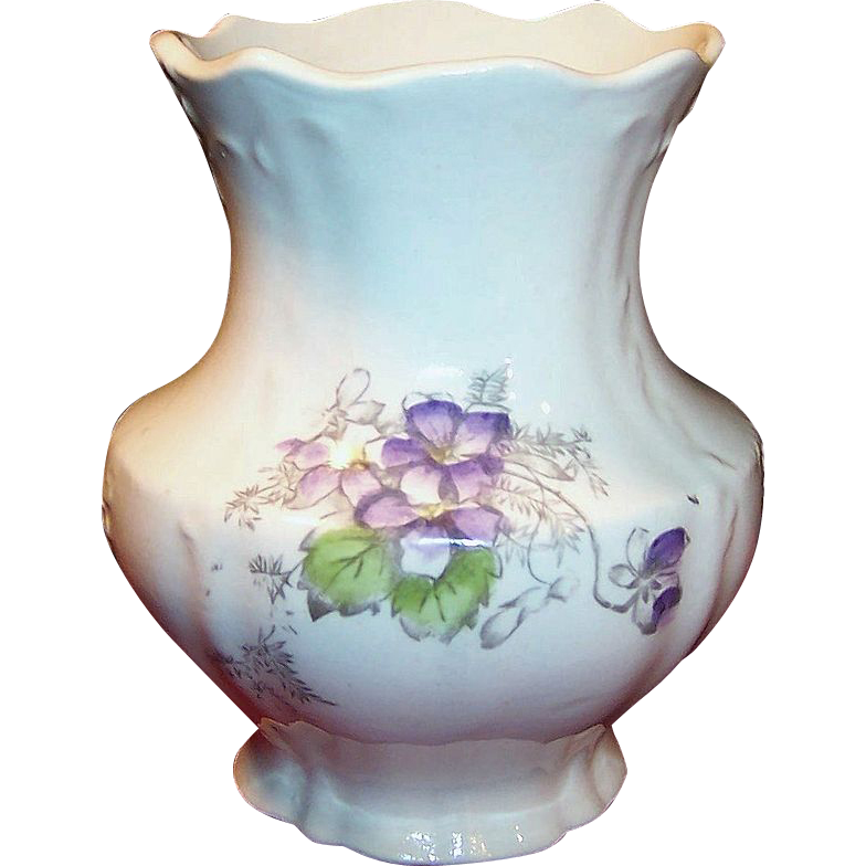 Victorian east palestine pottery toothbrush holder or brush vase from ruthsredemptions on ruby lane - Victorian toothbrush holder ...