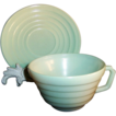 Hazel Atlas Moderntone Cup & Saucer Set