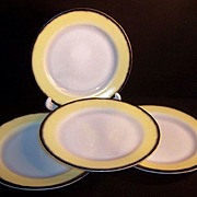 Hazel Atlas Ovide 9&quot; Dinner Plates (SET of FOUR)