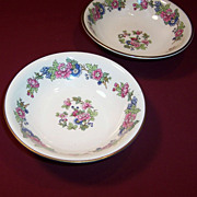 1940's Homer Laughlin Bristol  Fruit  (Dessert) Bowls