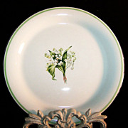 "Homer Laughlin Lily of the Valley Swing 8"" Salad Plates"