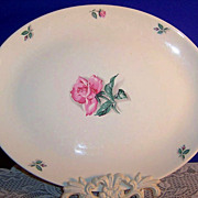 Homer Laughlin China Co.,  13 1/2&quot;  Rhythm Rose Platter