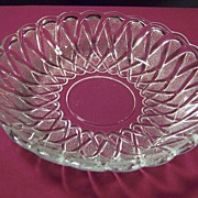 "Indiana Glass Pretzel Pattern 7 1/2"" Bowl"