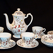 J & G Meakin Hampton Court English Staffordshire Coffee & Dessert Set