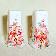 Artist Signed Floral Salt & Pepper Shakers