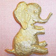 Signed J.Freides: Large Playful & Fun Elephant Pin