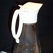 Vintage Tall Log Cabin Syrup Pitcher