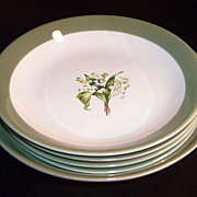 Lily of the Valley Bowl Set; 4 Soups & 1 Master