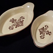 TWO Pfaltzgraff Village Au Gratin Dishes, 22 oz. and 16 oz