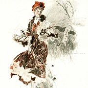 "Lithograph Print:   ""April""  by Henry Hutt"