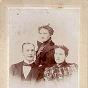SALE Antique Cabinet Card Photograph  Family Portrait