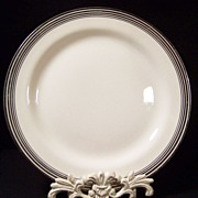 "Homer Laughlin Nautilus Platinum Bands 10"" Dinner Plate"