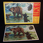 "REDUCED TUCO Junior Picture Puzzle in Pkg; Bears ""Time to Retreat"""