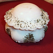 Victorian Milk Glass Vanity Jar