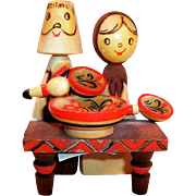 Russian Folk Art Carved Figures