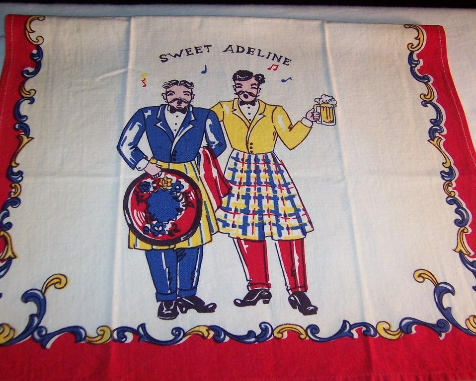 Gay 90's  &quot;Sweet Adeline&quot;  Towel; Unused!