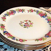 1940's  Laughlin  Bristol  Salad Plates (SET of 4 )