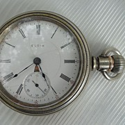 SALE Antique Elgin Sidewinder 18s Pocket Watch  17 jewels 1907