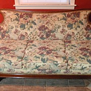 SALE Victorian Sofa with Metal Claw Feet