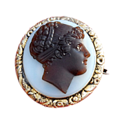 James Tassie Cameo Brooch Locket  in  Gold Ormolu  Settings cir.1769