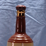Figural Bell Whiskey Pottery Decanter