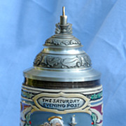 1992 Santa's Mailbag Lidded Stein