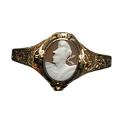 REDUCED Georgian Antique Golden Cameo Bracelet