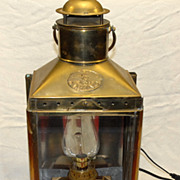 Large Brass Viking Wall Lantern / electric