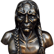 Naitive American Indian Bronze Statue