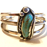 Vintage Native American Turquoise Bracelet