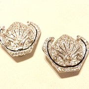 Art Deco Inc. Rhinestone Earrings Crystal