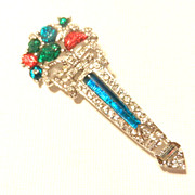 Vintage Art Deco Inc. Fruit Salad Brooch