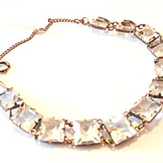 Vintage Sterling Silver Open Back Crystal Bracelet