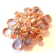 Vintage Juliana Saphiret Purple Pin Brooch