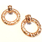 SOLD Vintage Chanel Earrings Logo Hoops 1980's