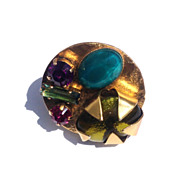 French Philippe Ferrandis Ring Paris Vintage Costume Jewelry