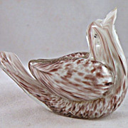 SALE Small Aureliano Toso Murano Bird with Label Remnant