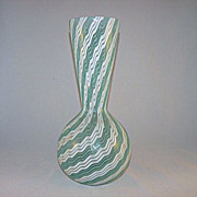Dino Martens Aureliano Toso Murano Vase with Trina Filigrana