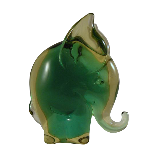 Murano Glass Elephant made for Camer Glass 1960s