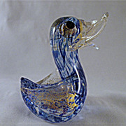 Early Barovier and Toso Comic Bullicante Duck Bird with Gold