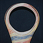 Fratelli Toso Murano Basket Vase with Swirling Blue and Pink