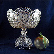 Hofbauer Byrdes Crystal Round Compote Made in Germany